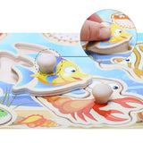 Wooden Peg Puzzles Cartoon Characters