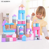 Soft Colors children's Wooden Building Blocks