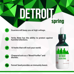 Detroit Healthy Tincture, Herbal Extract Supplement for Optimal Human Health - secretsofthetribe