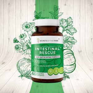 Intestinal Rescue Capsules. Gas and Bloating Formula