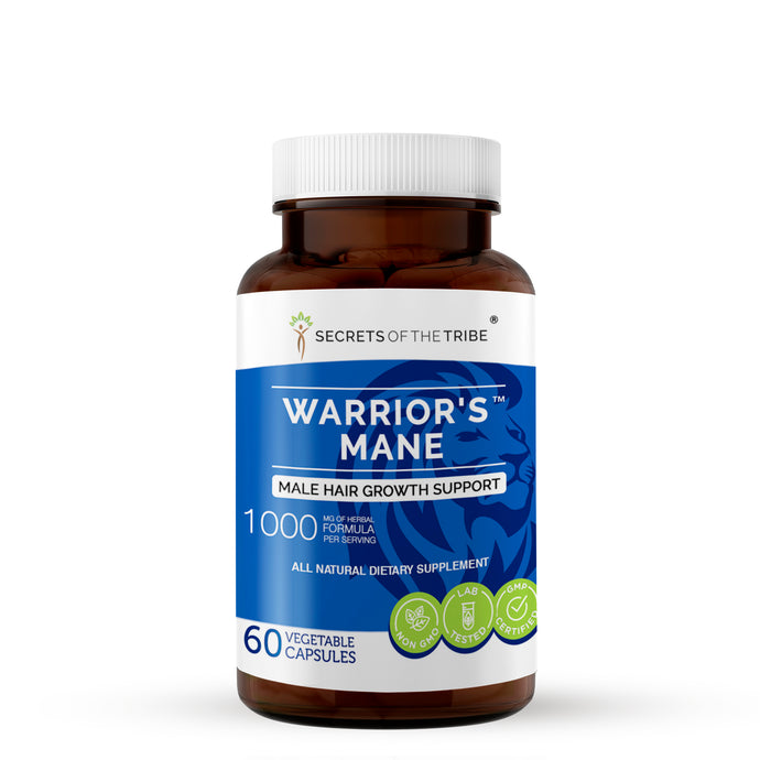 Warrior's Mane Capsules. Hair Growth Support