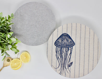 Bowl Covers - Set of 2 (M, L), Jellyfish
