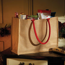 Load image into Gallery viewer, Classic Jute Grocery Bag