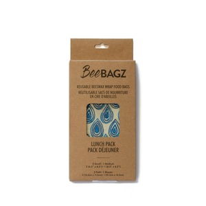 BeeBagz Lunch Pouches, set of 3
