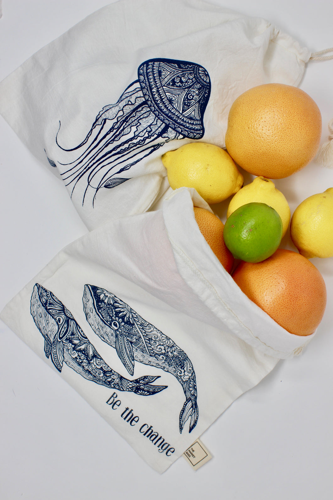 Produce Bags - Set of 2, ocean