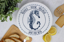 Load image into Gallery viewer, Beeswax Bowl Cover, medium - Seahorse