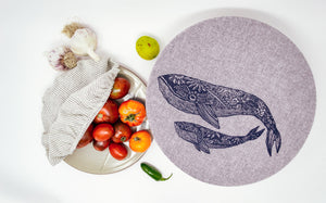 Bowl Covers - Set of 2 (L,XL) , Whale