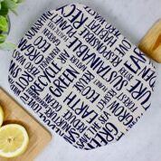 Load image into Gallery viewer, Beeswax Casserole Dish Cover - Words