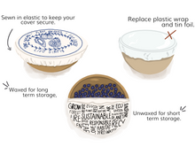 Load image into Gallery viewer, Beeswax Bowl Cover, Large - Pollution Solution