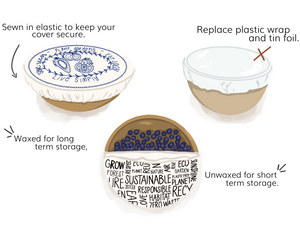 Beeswax Bowl Cover, Large - Pollution Solution