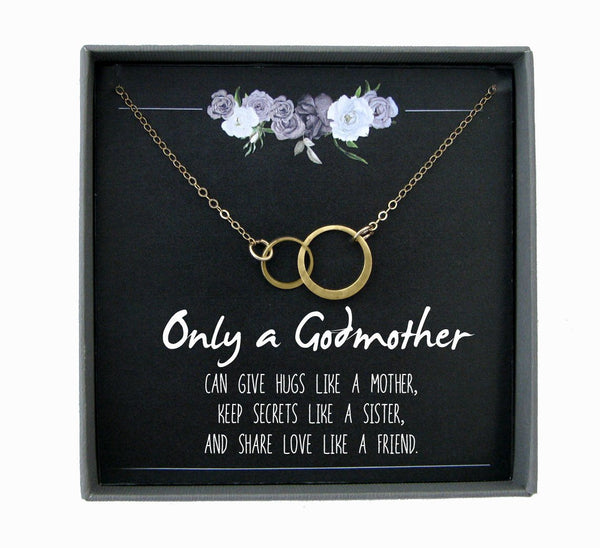 Godmother Necklace for Godmother Gift for God Mother Thank You Gift for Godparent Gift