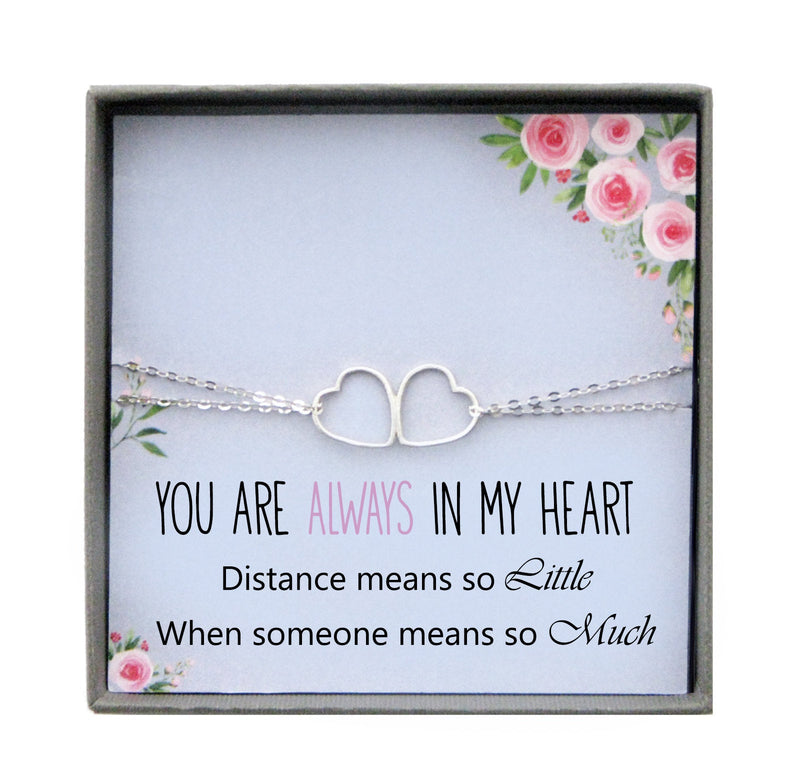 Long Distance Relationship Bracelet Long Distance Love Moving Away Gift family goodbye Best Friend Long Distance Gift Friendship