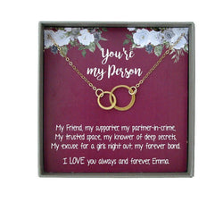 Youre my Person Necklace, You are my Person Gift, Best Friend Necklace, you're my person Friendship bff