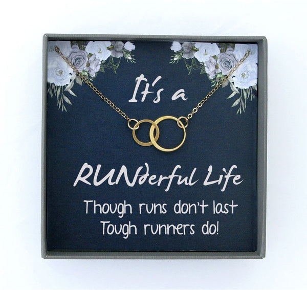 Running Necklace for Women Gift For Runner Gift Running Gifts for Runners Marathon Gift Fitness Motivation Gift