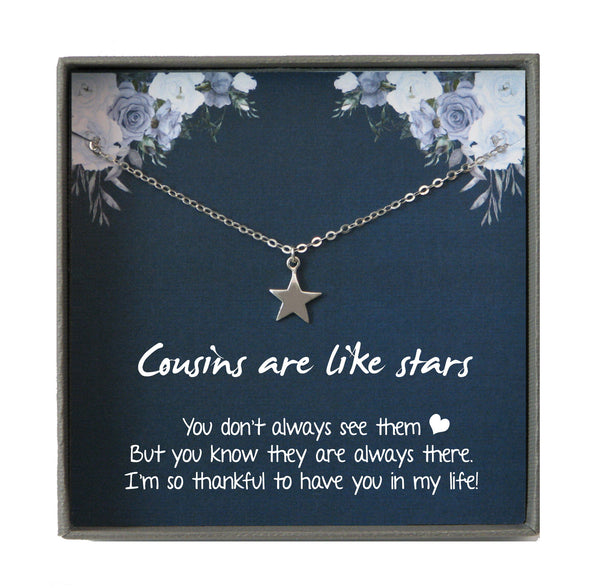 Cousin Gifts for Women, Cousin Gift for Cousin Birthday Gift Cousin Best friend Cousin Necklace Long Distance Cousin Quote