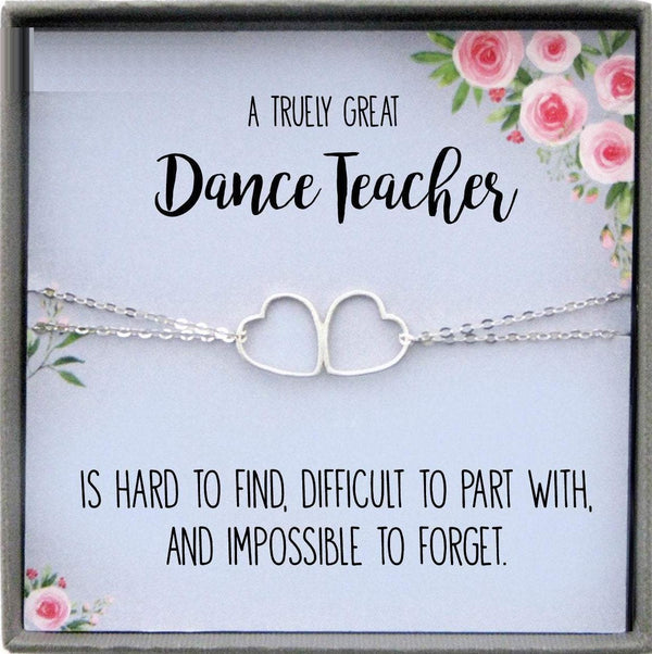 Dance Teacher Gifts for Ballet Teacher Gift Jewelry with Card
