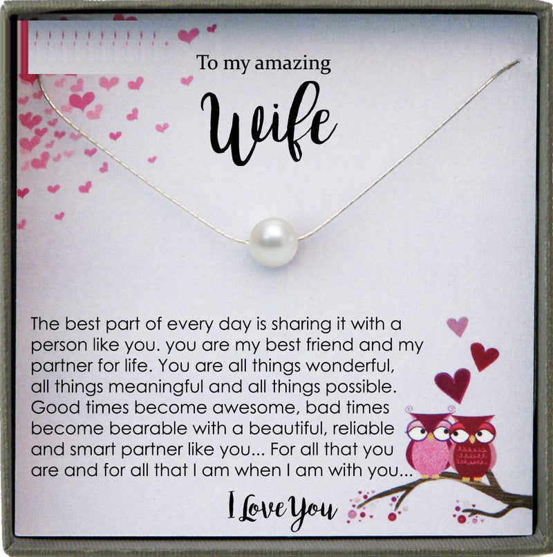 Wife Gift for Wife Birthday Gift, Wife Necklace Wife Gift from Husband to Wife Gift ideas