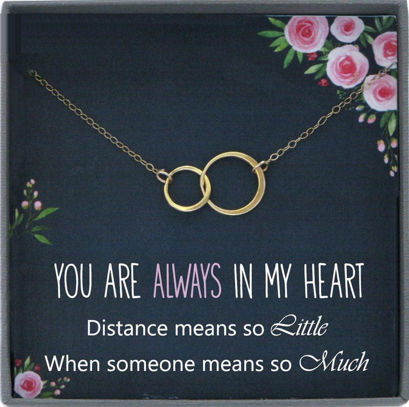 Long Distance Friendship Necklace Best Friend Long Distance Relationship Moving Away Gift Farewell gift Family Mom