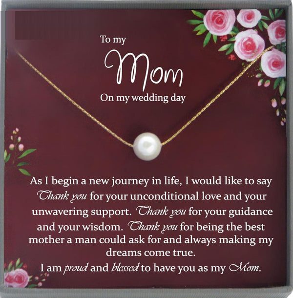 Mother of the Groom Gift from Son to Mom Gift Wedding Gift for Mom, Gift from Groom to Mother, Mom Wedding Gift from Groom to mom