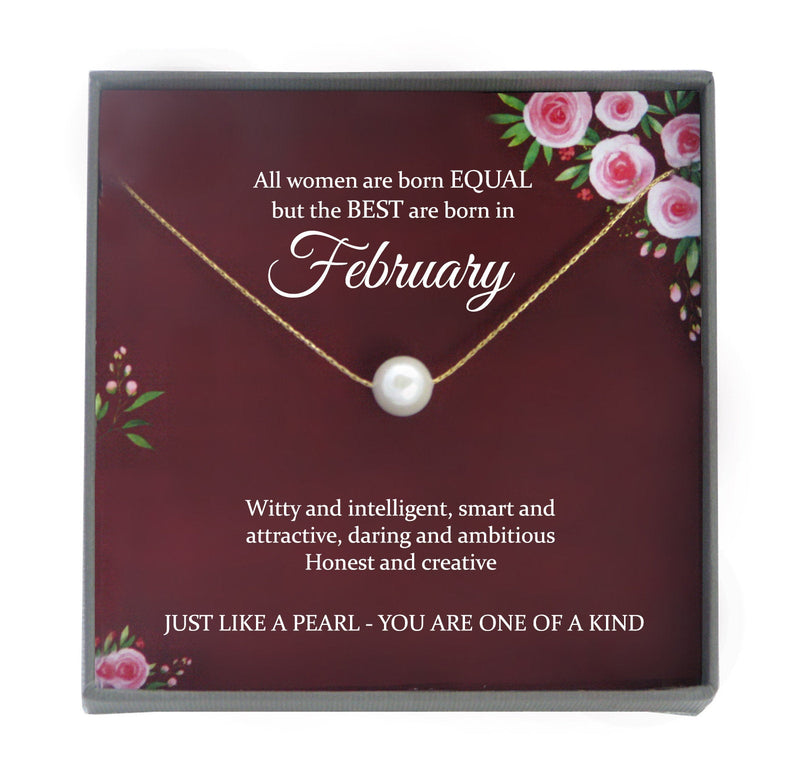February Birthday Gift February gifts, gift for february birthday, queens are born in february necklace