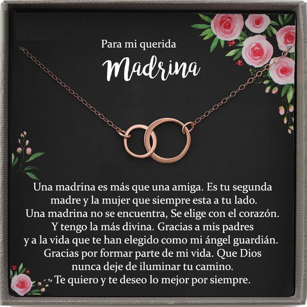 Madrina Gift, Regalo para Madrina Necklace, Collar Regalo para mujer, Spanish Godmother