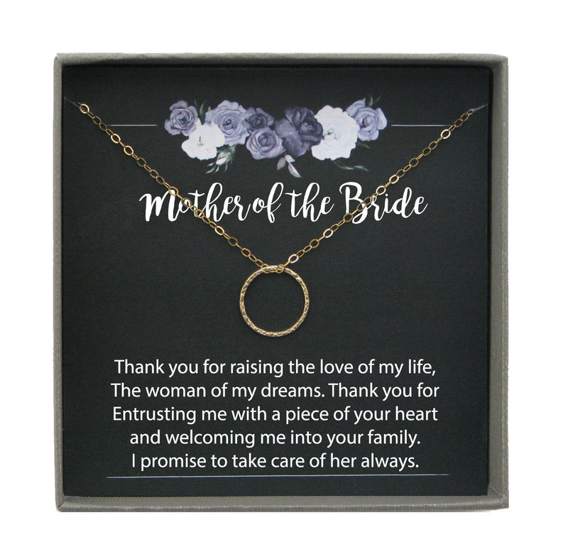 Mother of the Bride Gift from Groom Thank you for Raising the Woman of my Dreams Necklace from Groom to mother of bride Gift from son in law