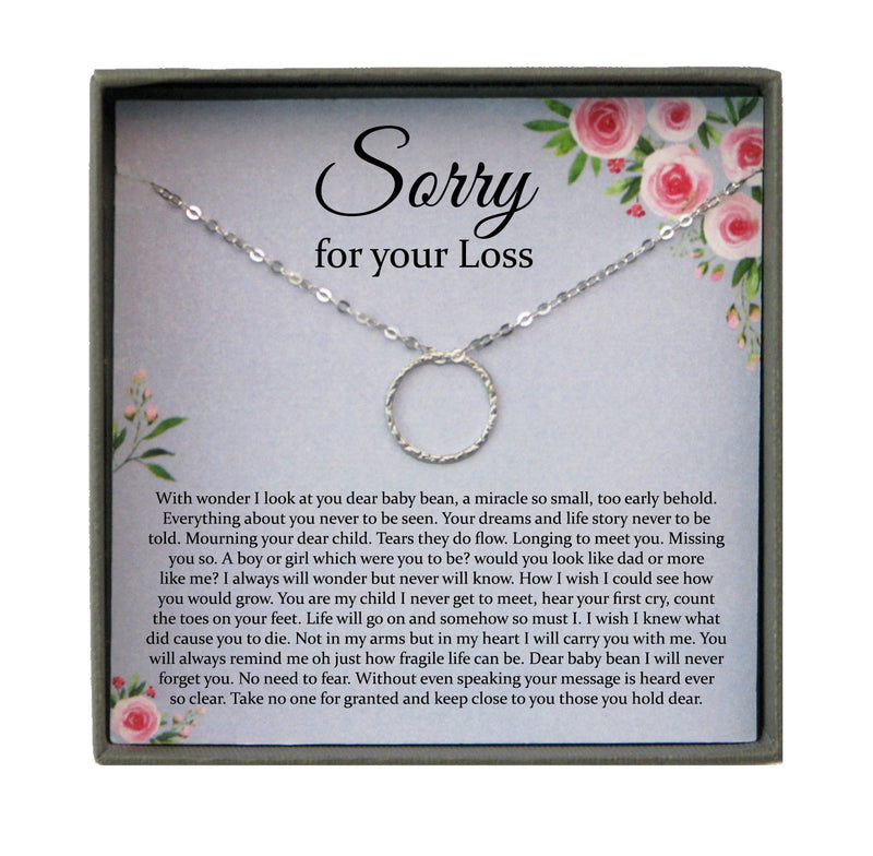 Miscarriage Gift Necklace: Loss of Baby, Sympathy Gift, Infant Loss Gift, Loss of Child Gift