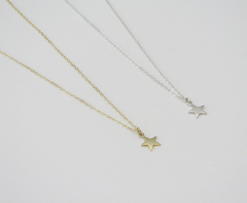 Dainty Star Necklace Gold Star Charm Necklace