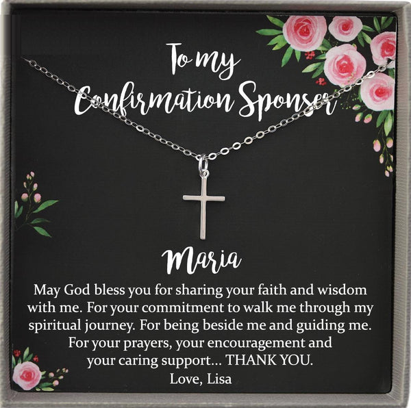 Confirmation Sponsor Gift for Women, Catholic Sponsor Gifts for Sponsors