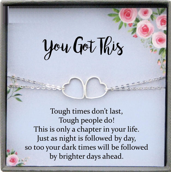 You Got This Bracelet, Break up gift, breast cancer gifts, You Got This Gift of Encouragement gift, Divorce gift, Cheer up Gift