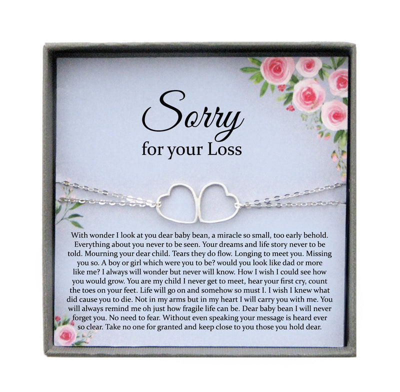 Miscarriage Gift Bracelet: Loss of Baby, Sympathy Gift, Infant Loss Gift, Loss of Child Gift, Pregnancy Loss, Bereavement gift