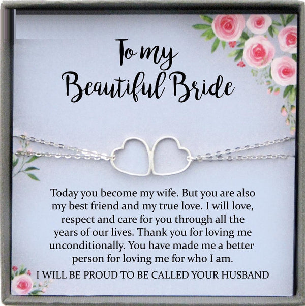 Wedding Day Gift for bride from Groom, To my Beautiful Bride Gift from Groom to Bride Gift Wedding Day