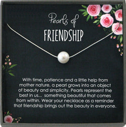 Friendship Necklace, Pearls of Friendship, Best Friend Necklace Gift