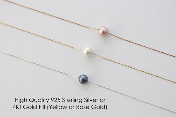 Sister Wedding Gift from Sister Wedding Day Gift for Bride from Sister Single Pearl Necklace