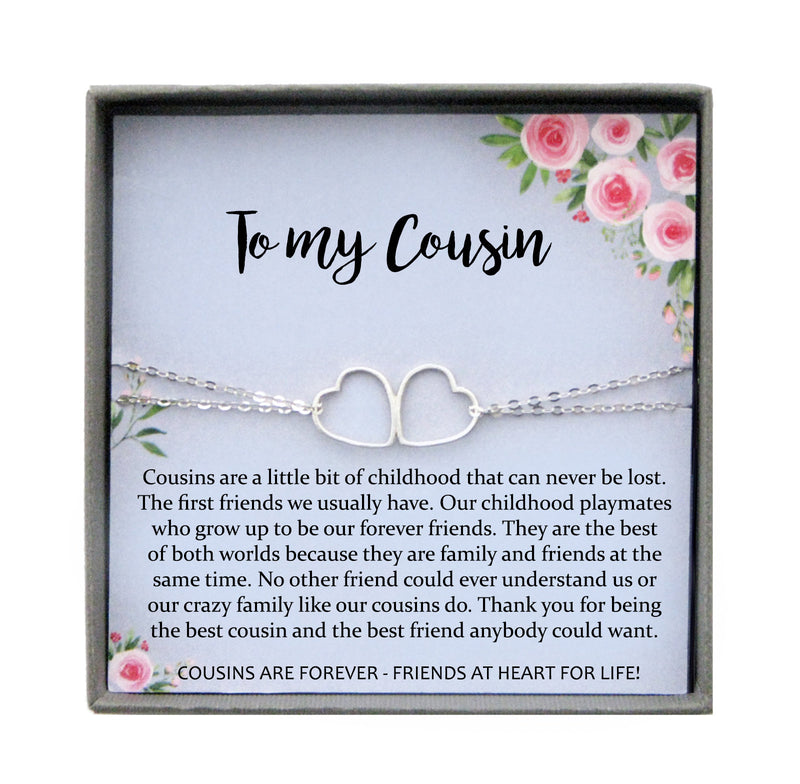 Cousin Gifts for Women, Cousin Bracelet for Cousins Gift, Cousin best friend, Cousin Birthday Gift