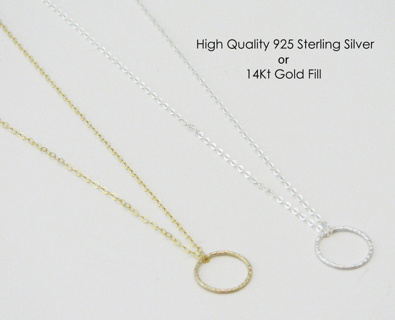 Silver Circle Necklace Silver Eternity Necklace Silver Necklaces for Women Simple Everyday Necklace
