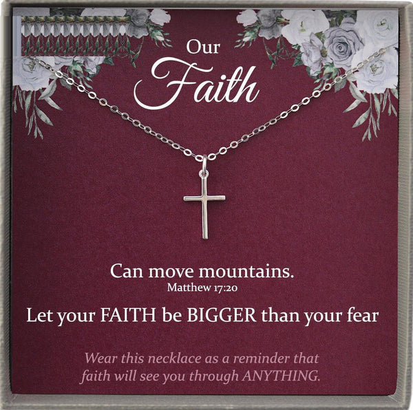 Christian Jewelry for Women, Faith is Greater than Fear Necklace, Christian Gifts for Women, faith over fear
