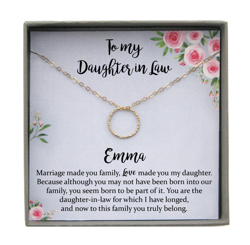Gift to Daughter in Law Wedding Gift, Daughter in Law Wedding Gift for Bride from Mother of Groom to Bride