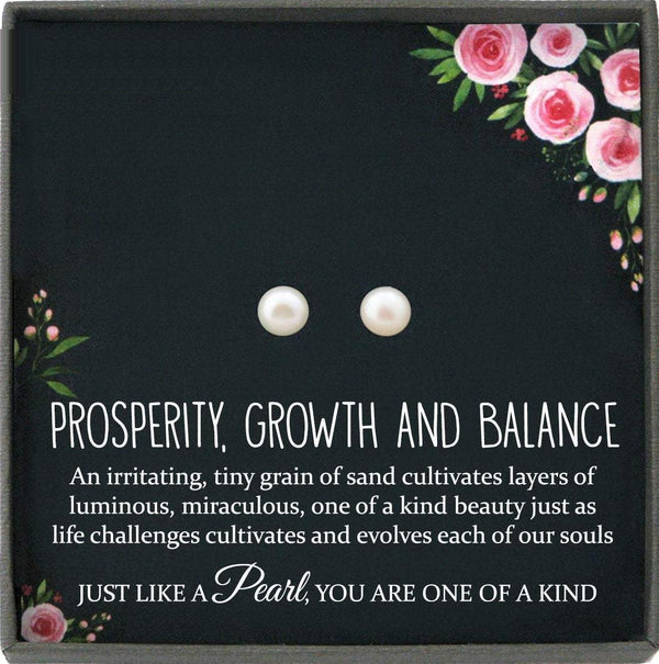 Dainty Earrings Studs, Inspirational Gift, Pearl Earrings studs