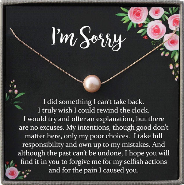 I'm Sorry Gift Apology Gift Necklace For Her, please forgive me gift wife, girlfriend, friend, forgiveness, forgive necklace