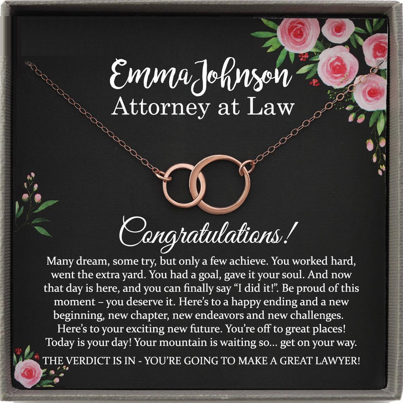 Law School Graduation Gift for Her, Personalized graduation Gift Necklace, Custom Graduation Gift for New Attorney at law