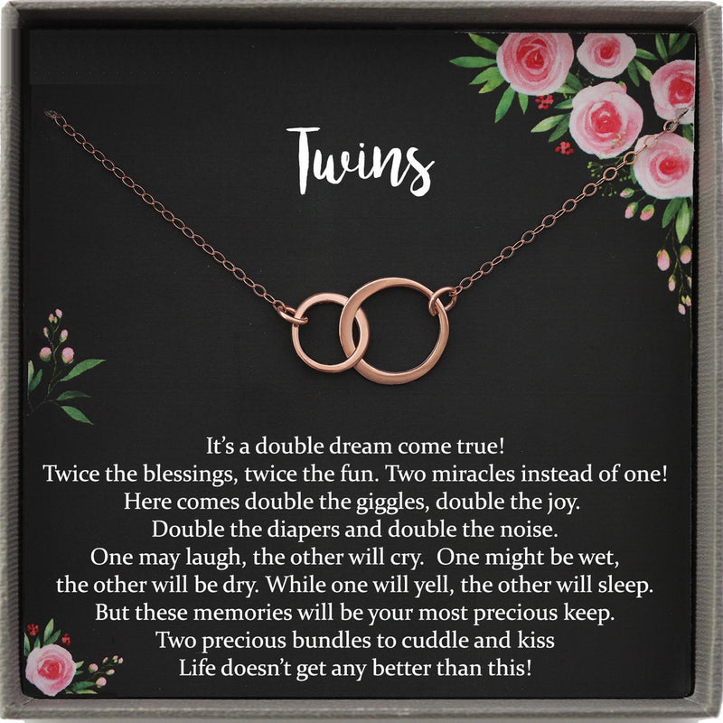 Twin Baby Gift, Mother of Twins Baby Shower, Mom of Twins Pregnancy Announcement, Pregnant with Twins, Expecting twins, Because Twins