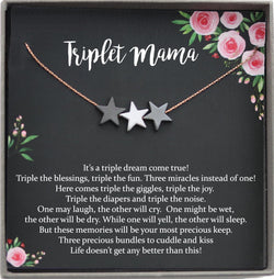 Mom of Triplets Gift for Triplet Mama, Mom of multiples, Triplet Mom Gift, Mom of three