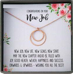 New Job Gift for Her, Congratulations Gift New Job, Colleague Leaving Gift, New Job Gifts for Woman, Good Luck New job Necklace with Card