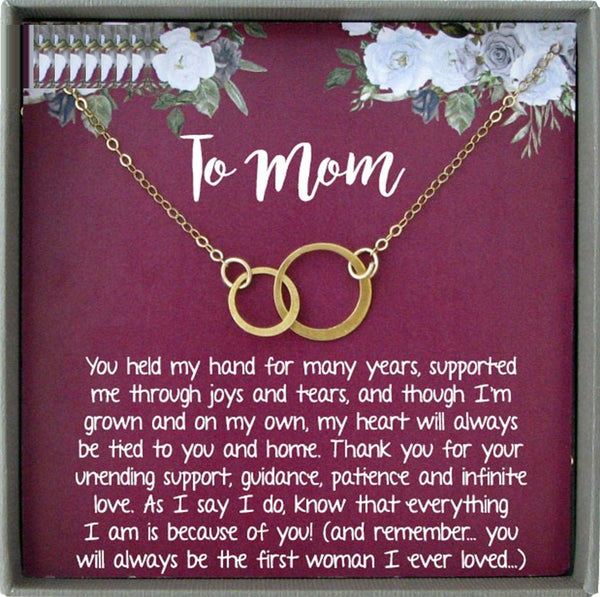 Mother Son Necklace, Mom Gifts from Son, Mother of the Groom Gift from Son to Mom on Wedding Day, Mom Necklace from Son
