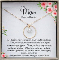 Mother of the Bride Gift from Daughter Mother of the Bride Necklace from Bride Pearl Necklace Mom of Bride Gift To Mom from Bride
