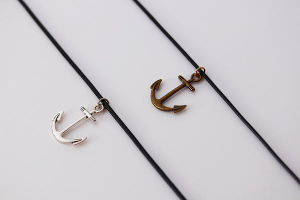 Gift for Step Dad Gift for Bonus Dad Gift, Step Dad Christmas Gift, Step Father Wedding Gift, Anchor Necklace Men