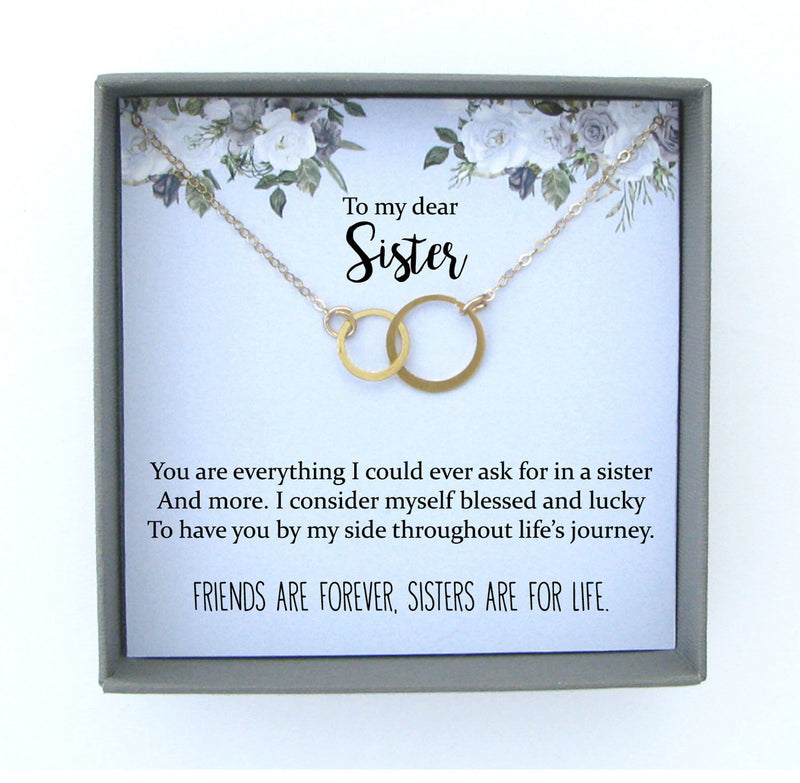Sisters Necklace: Sister Gift, Gift for Sister, Sister Birthday Gift, Big Sister Gift