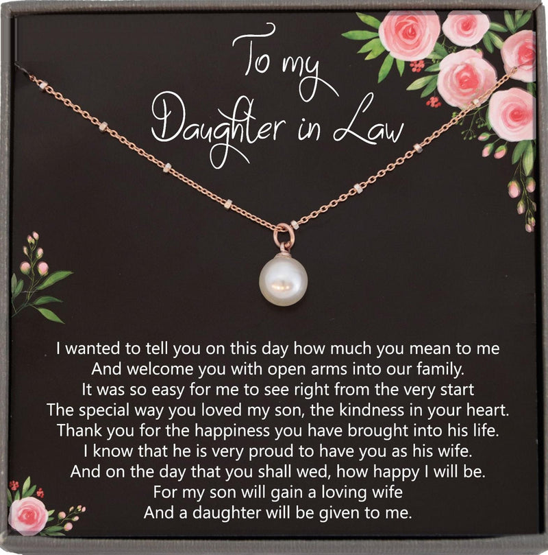 Daughter in Law Gifts for Wedding Bride Gift From Mother in law, Mother of Groom to Bride Wedding Gift for Bride, Satellite Chain Necklace