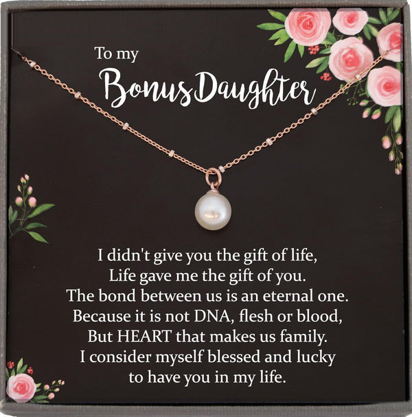 Daughter in Law Gift for Christmas Gift for daughter-in-law From Mother in law Bonus Daughter Gift, Satellite Chain Necklace